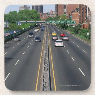 USA, Massachusetts, Boston, traffic on Storrow Drink Coasters
