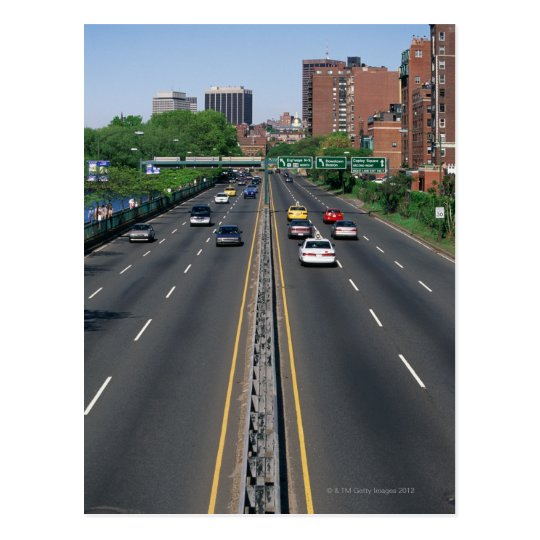 USA, Massachusetts, Boston, traffic on Storrow Postcard