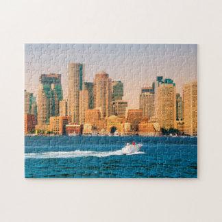 USA, Massachusetts. Boston Waterfront Panorama Jigsaw Puzzle