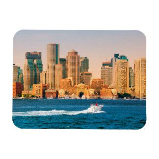 USA, Massachusetts. Boston Waterfront Panorama Magnet