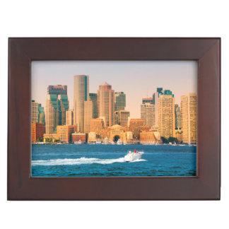 USA, Massachusetts. Boston Waterfront Panorama Memory Box