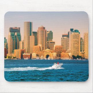 USA, Massachusetts. Boston Waterfront Panorama Mouse Pad
