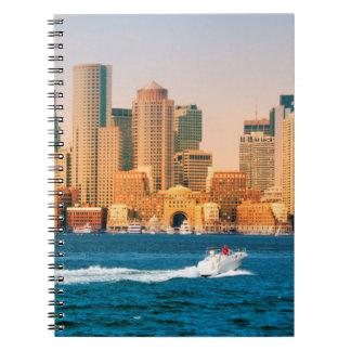 USA, Massachusetts. Boston Waterfront Panorama Notebooks