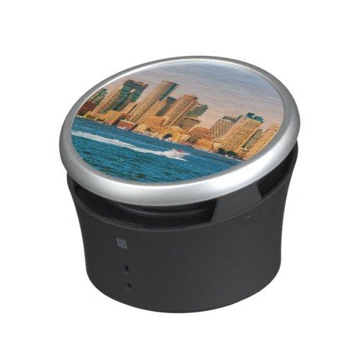USA, Massachusetts. Boston Waterfront Panorama Speaker