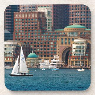 USA, Massachusetts. Boston Waterfront Skyline 2 Drink Coaster