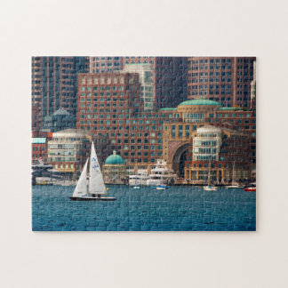 USA, Massachusetts. Boston Waterfront Skyline 2 Jigsaw Puzzle