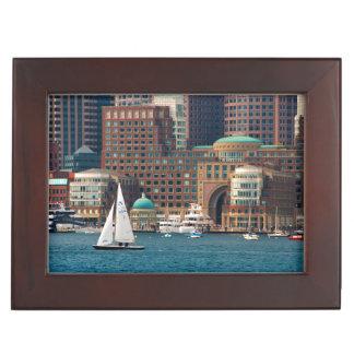 USA, Massachusetts. Boston Waterfront Skyline 2 Memory Box