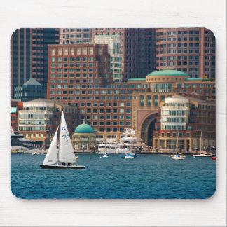 USA, Massachusetts. Boston Waterfront Skyline 2 Mouse Pad