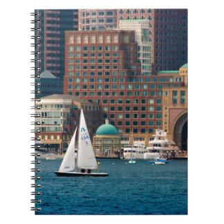 USA, Massachusetts. Boston Waterfront Skyline 2 Notebook