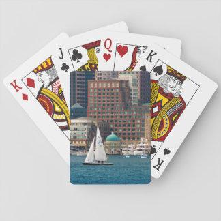 USA, Massachusetts. Boston Waterfront Skyline 2 Playing Cards