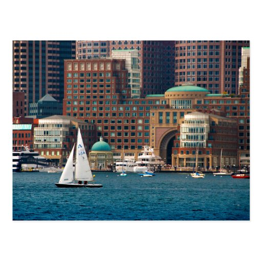USA, Massachusetts. Boston Waterfront Skyline 2 Post Card