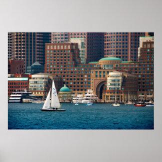 USA, Massachusetts. Boston Waterfront Skyline 2 Poster
