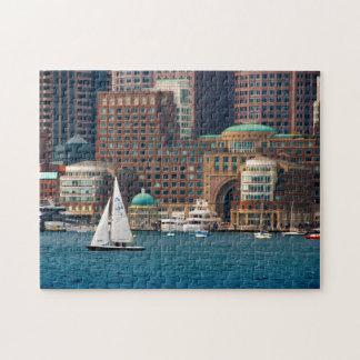 USA, Massachusetts. Boston Waterfront Skyline 2 Puzzles