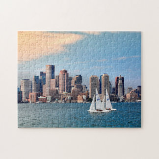 USA, Massachusetts. Boston Waterfront Skyline 3 Jigsaw Puzzle
