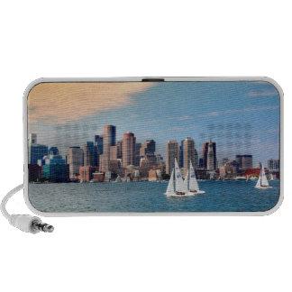 USA, Massachusetts. Boston Waterfront Skyline 3 Mini Speaker