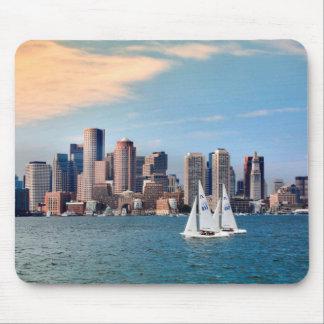 USA, Massachusetts. Boston Waterfront Skyline 3 Mouse Pad