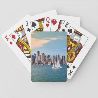 USA, Massachusetts. Boston Waterfront Skyline 3 Playing Cards