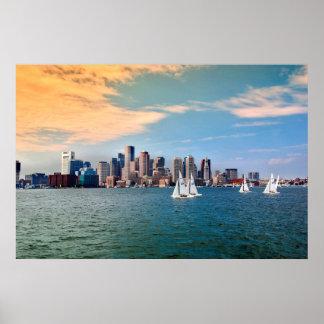 USA, Massachusetts. Boston Waterfront Skyline 3 Poster