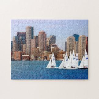 USA, Massachusetts. Boston Waterfront Skyline 4 Jigsaw Puzzles