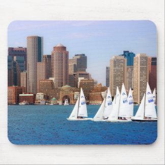 USA, Massachusetts. Boston Waterfront Skyline 4 Mouse Pad