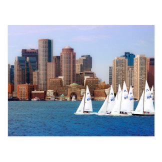 USA, Massachusetts. Boston Waterfront Skyline 4 Postcard