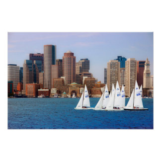 USA, Massachusetts. Boston Waterfront Skyline 4 Poster