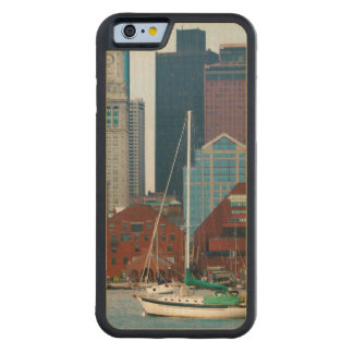 USA, Massachusetts. Boston Waterfront Skyline Carved Maple iPhone 6 Bumper Case