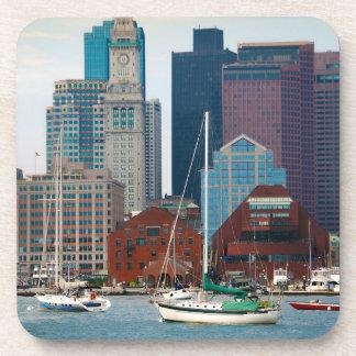 USA, Massachusetts. Boston Waterfront Skyline Drink Coaster