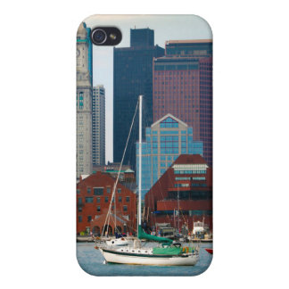 USA, Massachusetts. Boston Waterfront Skyline iPhone 4/4S Case
