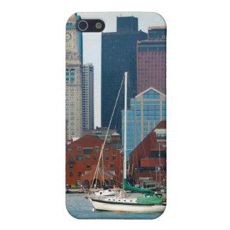 USA, Massachusetts. Boston Waterfront Skyline iPhone SE/5/5s Case