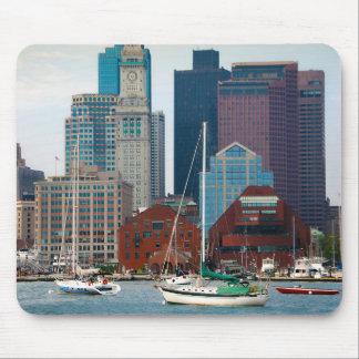 USA, Massachusetts. Boston Waterfront Skyline Mouse Pad