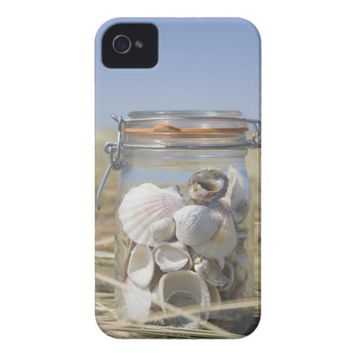 USA, Massachusetts, close up of shells in jar iPhone 4 Case-Mate Cases