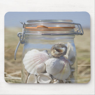USA, Massachusetts, close up of shells in jar Mouse Pad