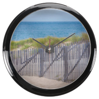 USA, Massachusetts. Dunes And Path Aquavista Clocks