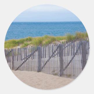 USA, Massachusetts. Dunes And Path Classic Round Sticker
