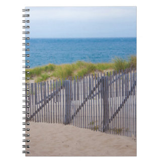 USA, Massachusetts. Dunes And Path Spiral Notebook