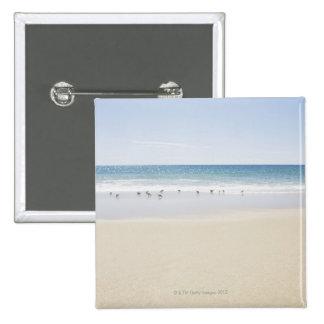 USA, Massachusetts, Empty beach 3 2 Inch Square Button