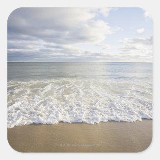 USA, Massachusetts, Empty beach Square Sticker
