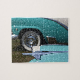 USA, Massachusetts, Gloucester. 1950s-era Ford Jigsaw Puzzle