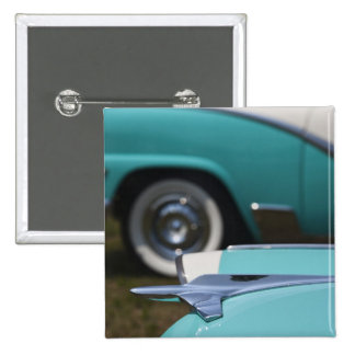 USA, Massachusetts, Gloucester. 1950s-era Ford Pinback Button
