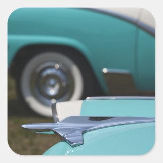 USA, Massachusetts, Gloucester. 1950s-era Ford Square Sticker