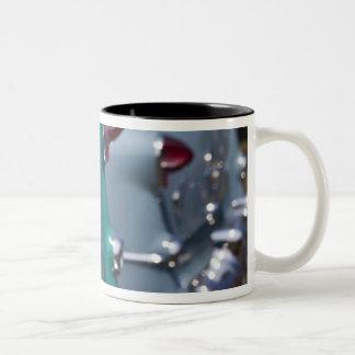 USA, Massachusetts, Gloucester. 1950s-era Two-Tone Coffee Mug