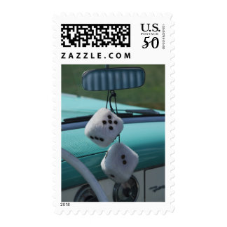USA, Massachusetts, Gloucester. Fuzzy dice in a Postage