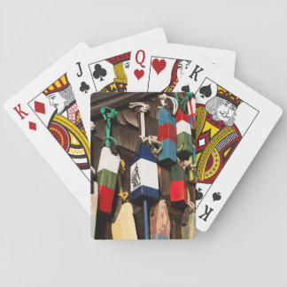 USA, Massachusetts, Gloucester, Lobster Buoys 2 Playing Cards