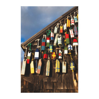 USA, Massachusetts, Gloucester, Lobster Buoys Stretched Canvas Prints