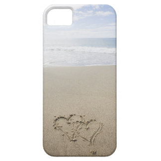 USA, Massachusetts, Hearts drawn on sandy beach 2 iPhone 5 Cover