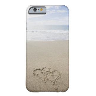 USA, Massachusetts, Hearts drawn on sandy beach 2 Barely There iPhone 6 Case
