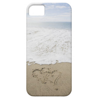 USA, Massachusetts, Hearts drawn on sandy beach 3 iPhone 5 Cases