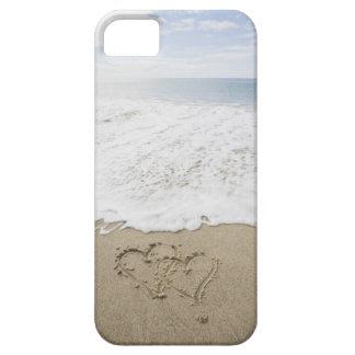 USA, Massachusetts, Hearts drawn on sandy beach 3 iPhone SE/5/5s Case