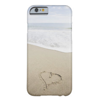 USA, Massachusetts, Hearts drawn on sandy beach Barely There iPhone 6 Case